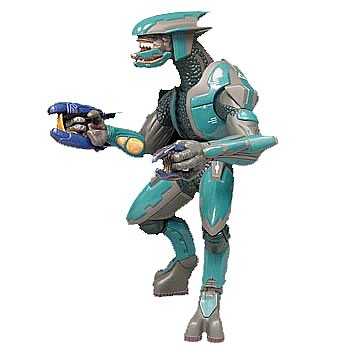 Halo 2 Teal Multiplayer Elite Action Figure