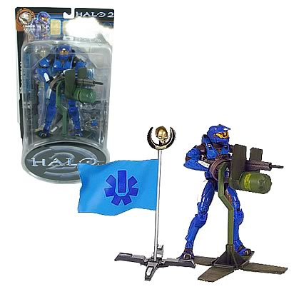 Halo Blue Spartan Action Figure