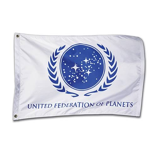 Star Trek United Federation Of Planets White Flag