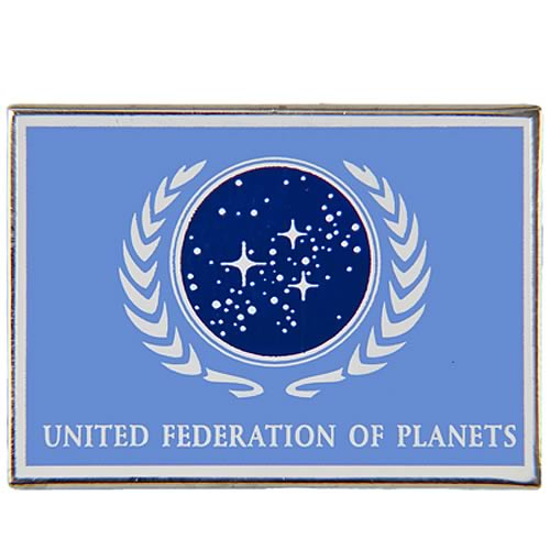Star Trek United Federation of Planets Blue Flag Pin