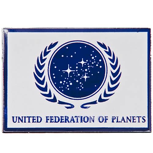 Star Trek United Federation of Planets White Flag Pin