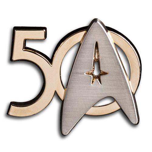 Star Trek 50th Anniversary Logo Pin