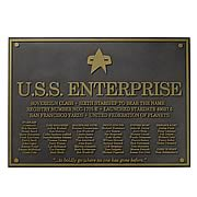 Star Trek Next Generation Enterprise E Dedication Plaque