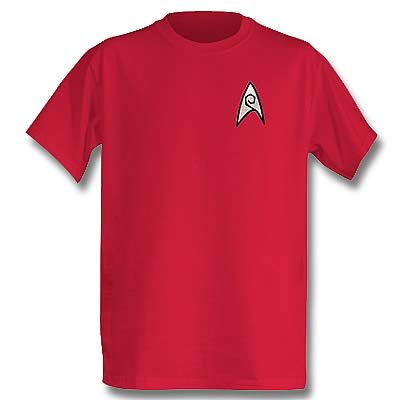 Star Trek TOS Engineering Officer T-Shirt