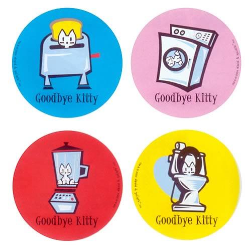David & Goliath Coaster Set: Goodbye Kitty