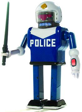 URL Police Robot Tin Toy