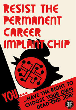 Resist Career Chips Tin Sign