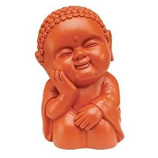 Orange 8-Inch Buddha Buddha Bank
