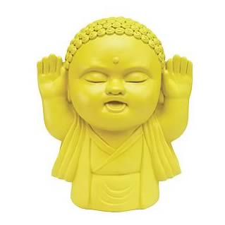 Yellow 8-Inch Buddha Bank