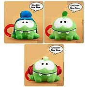 Cut the Rope 3-Inch Talking Plush w/ Backpack Clip Half Case