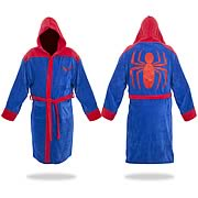 Spider-Man Blue-and-Red Hooded Cotton Bathrobe