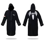 Spider-Man Black and Silver Hooded Cotton Bath Robe