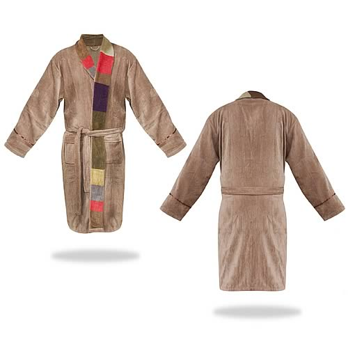 Doctor Who Tom Baker Retro Beige Cotton Bath Robe