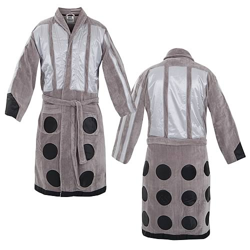 Doctor Who Silver Dalek Cotton Bathrobe