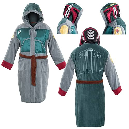 Star Wars Boba Fett Hooded Cotton Bathrobe