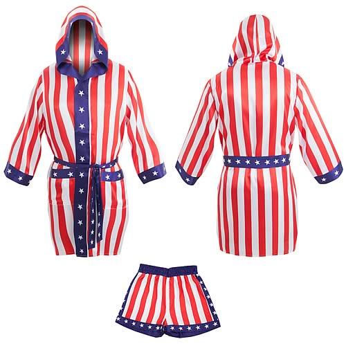 Rocky Apollo Creed Satin Robe and Shorts Set