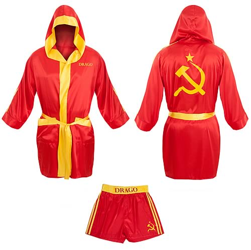 Rocky Ivan Drago Satin Robe and Shorts Set