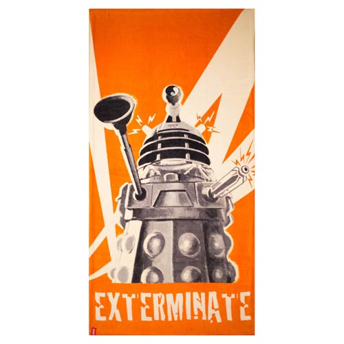 Doctor Who Dalek Cotton Towel