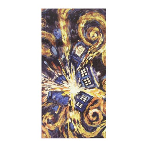 Doctor Who Van Gogh Cotton Towel