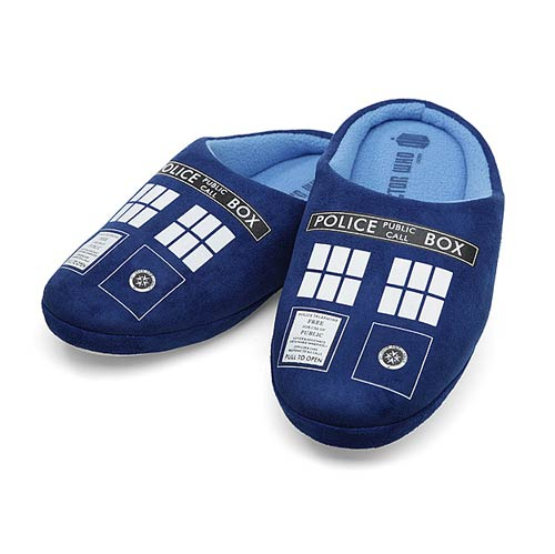 Doctor Who TARDIS Womens Slippers