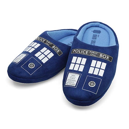Doctor Who TARDIS Mens Slippers