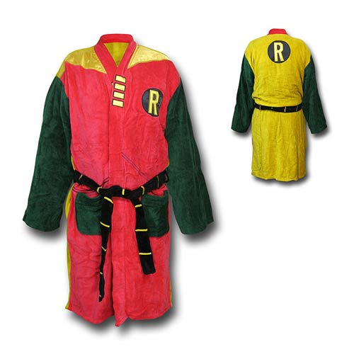 Batman Robin Retro Cotton Bathrobe
