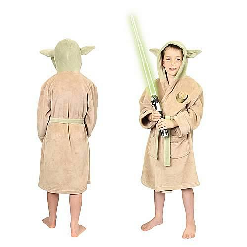 Star Wars Yoda Fleece Bath Robe Kids Large