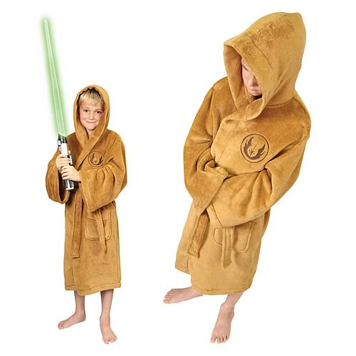 Star Wars Jedi Fleece Bath Robe Kids Small