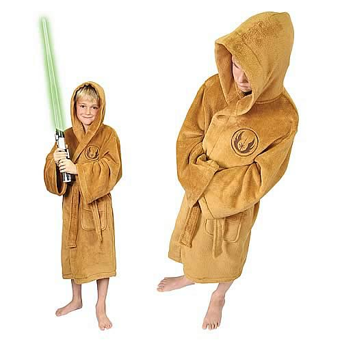 Star Wars Jedi Fleece Bath Robe Kids Medium
