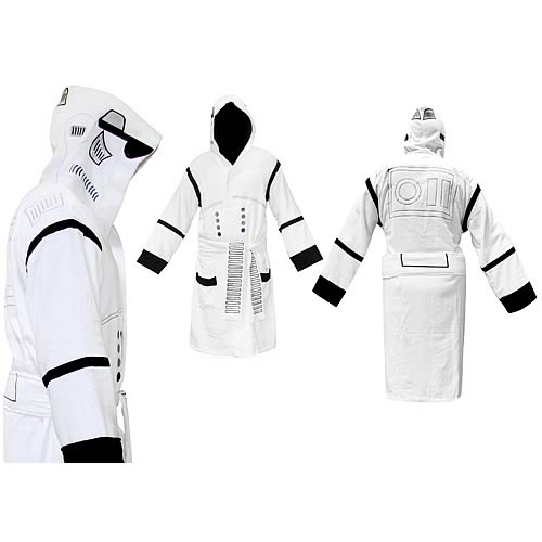 Star Wars Stormtrooper Hooded White Cotton Bathrobe