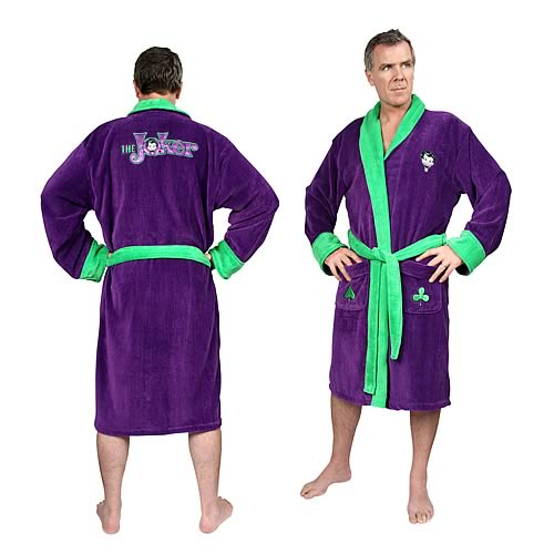 Batman Joker Fleece Bathrobe