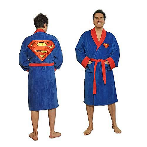 Superman Fleece Bathrobe