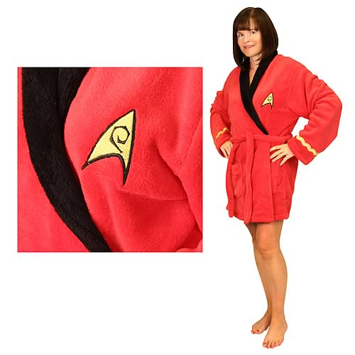Star Trek Original Series Uhura Fleece Bathrobe