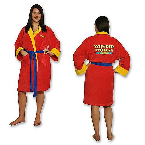 Wonder Woman Fleece Bath Robe