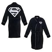 Superman Black and Silver Cotton Bath Robe