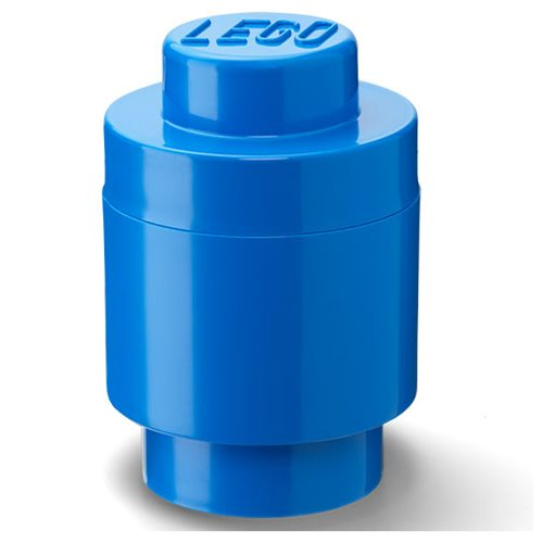 LEGO Blue Round Storage Brick 1