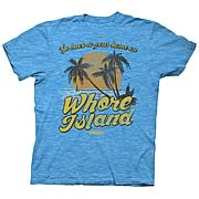 Anchorman Whore Island Turquoise T-Shirt