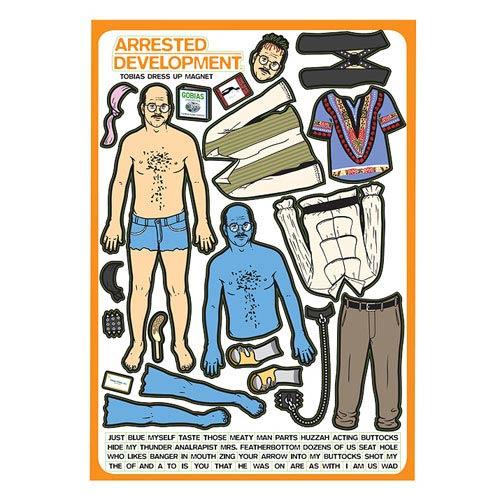 Arrested Development Tobias Funke Dress-Up Magnet Set
