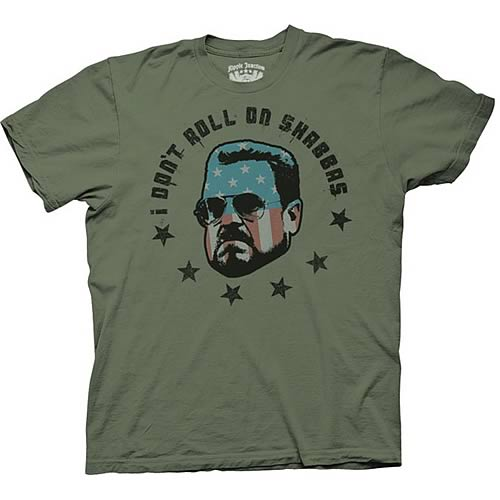 Big Lebowski I Dont Roll On Shabbas T-Shirt