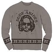 Big Lebowski Dude Abides Knit Sweatshirt