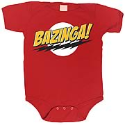 Big Bang Theory Bazinga Red Onesie