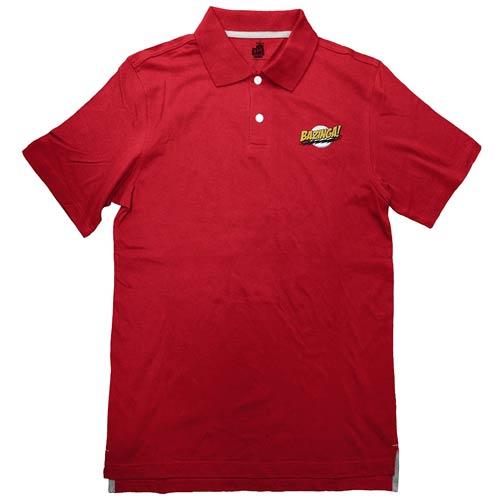 Big Bang Theory Bazinga! Red Polo T-Shirt