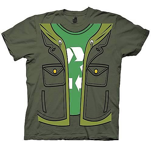 Big Bang Theory Leonard Trompe Loeil Green T-Shirt
