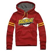 Big Bang Theory Comic Lightning Bolts Bazinga Hoodie