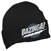 Big Bang Theory Bazinga! Black Knit Hat