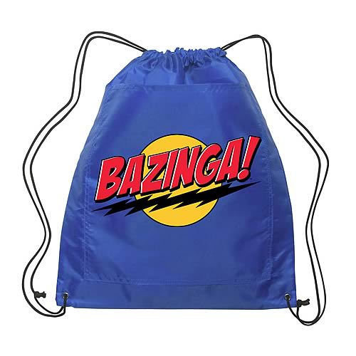 Big Bang Theory Bazinga! Blue Drawstring Bag