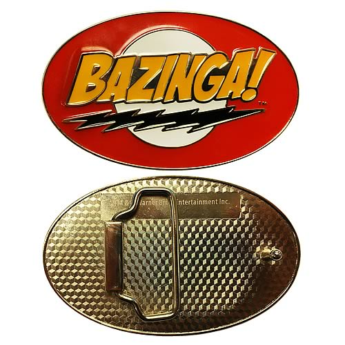 Big Bang Theory Bazinga Belt Buckle