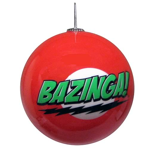 Big Bang Theory Bazinga Ball Ornament