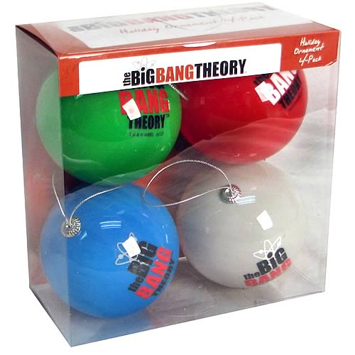 Big Bang Theory Bazinga Ball Ornament 4-Pack