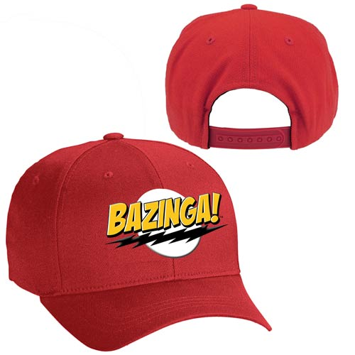 Big Bang Theory Bazinga! Red Baseball Hat